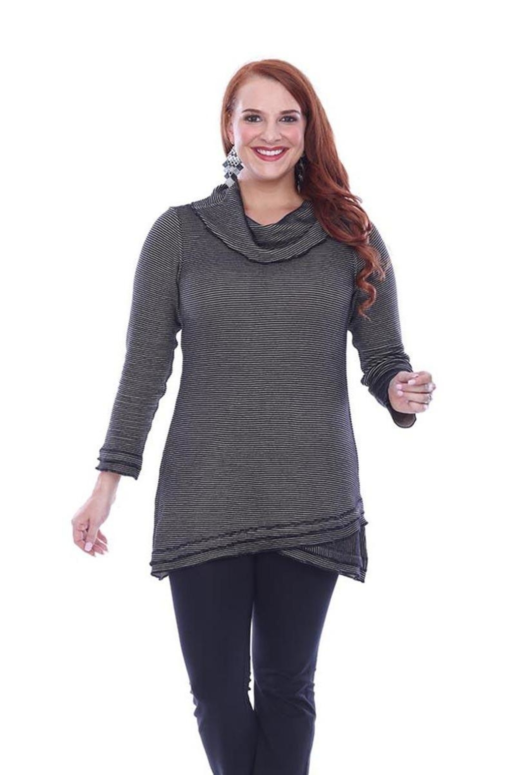 Parsley & Sage Stripe Knit Tunic - Front Cropped Image