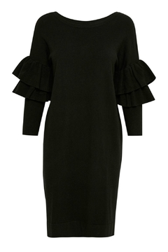 Part Two Black Ruffled Dress - Product List Image