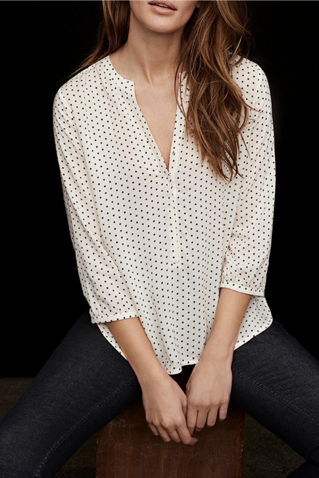 Part Two Dotted V-Neck Blouse - Side Cropped Image