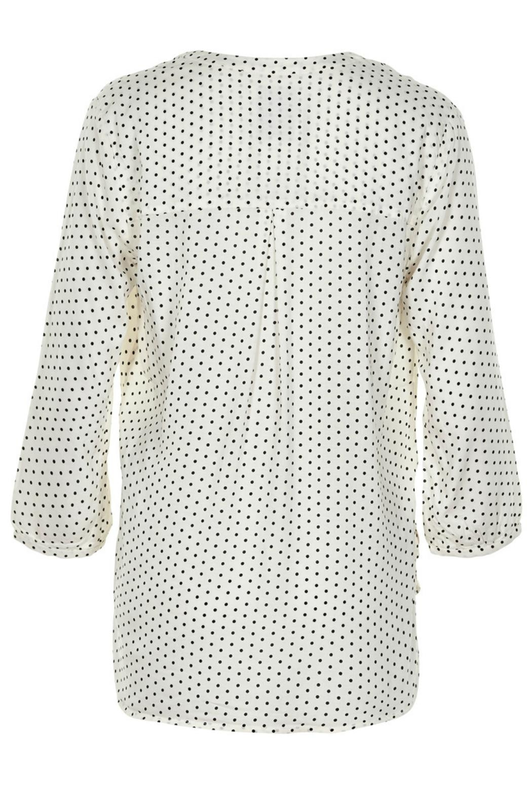 Part Two Dotted V-Neck Blouse - Front Full Image