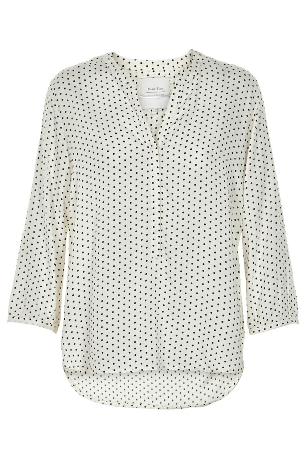 Part Two Dotted V-Neck Blouse - Main Image