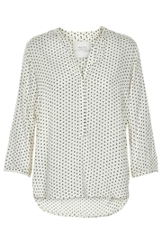 Part Two Dotted V-Neck Blouse - Front cropped