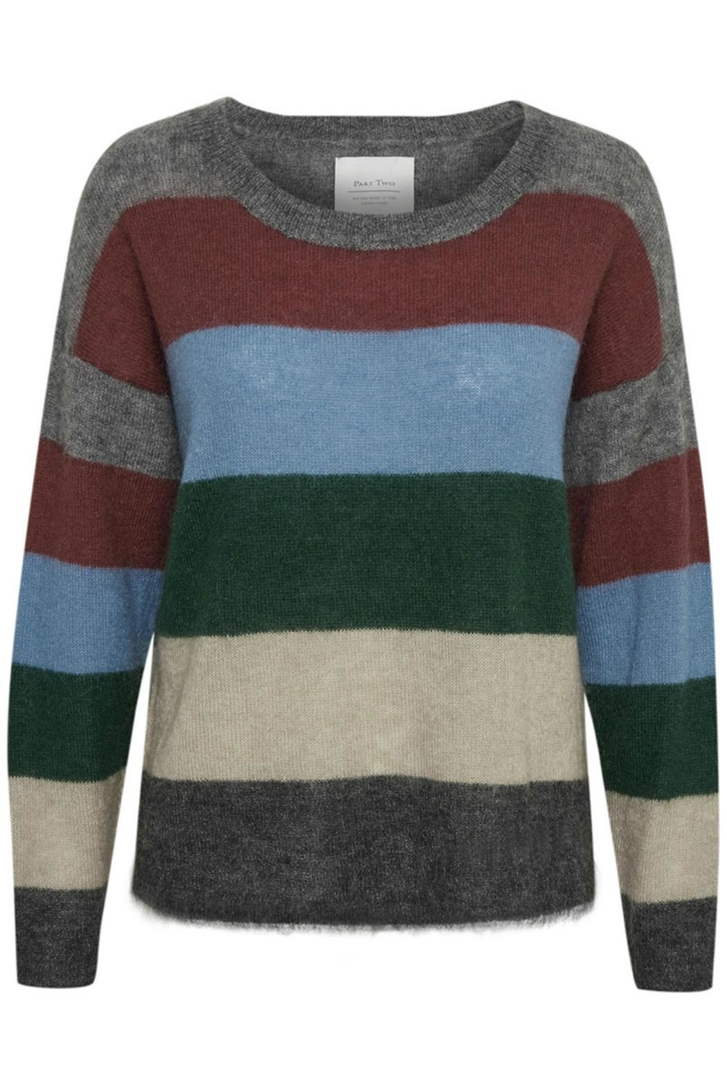 Part Two Striped Wool Sweater - Front Full Image
