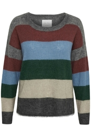 Part Two Striped Wool Sweater - Front full body