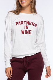 Suburban riot Partners in Wine L/S Camp Tee - Front cropped