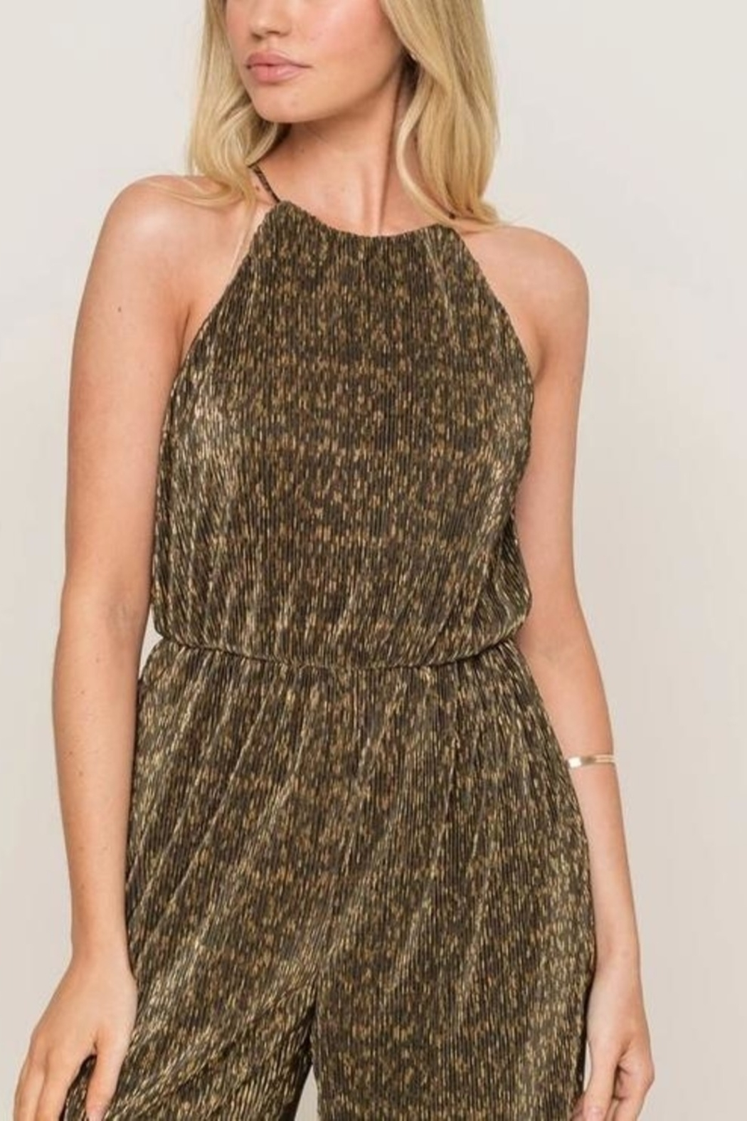Lush Party Girl Jumpsuit - Front Cropped Image