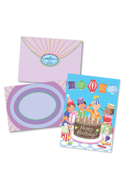 Eeboo Party Lanterns Happy Birthday Card - Product Mini Image