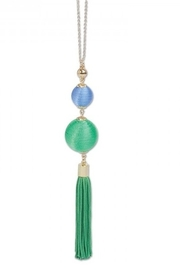 Periwinkle by Barlow PARTY PERFECT, KIWI & BLUEBERYY BEEHIVE TASSEL NECKLACE - Product Mini Image