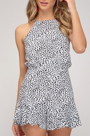 She and Sky Party Style Romper - Product Mini Image