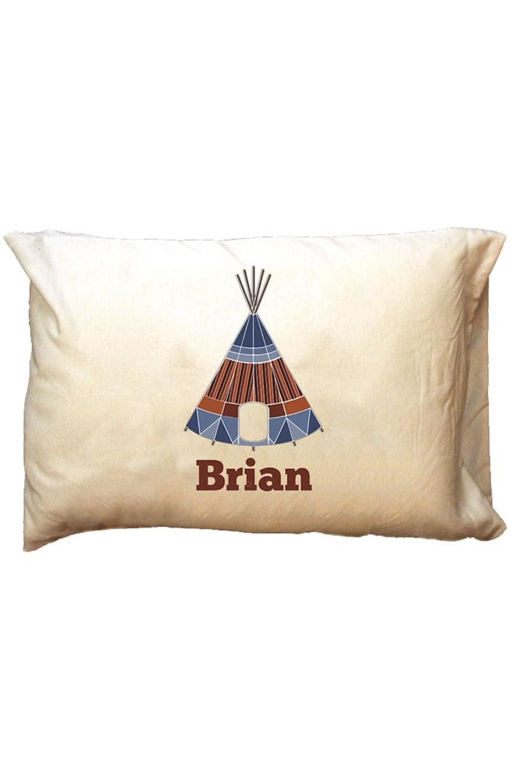 Party Cat Personalized Blue-Tee-Pee Pillowcase - Main Image