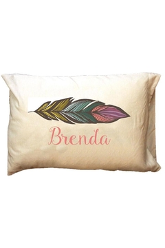 Shoptiques Product: Personalized Feather Travel-Pillowcase