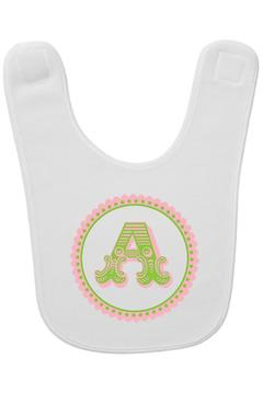 Party Cat Initial Scallop Bib - Alternate List Image