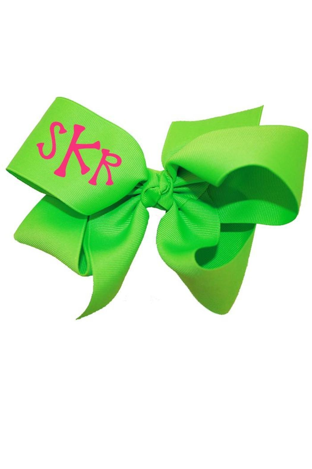Party Cat Personalized Neon Bow - Front Cropped Image