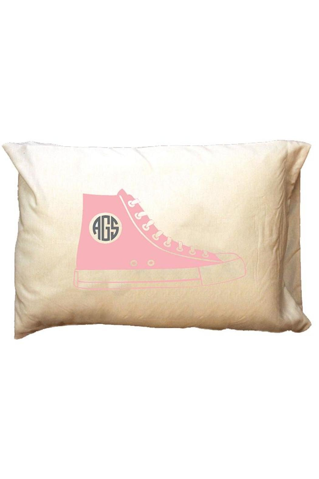 Party Cat Personalized Pink-Shoe Pillowcase - Main Image
