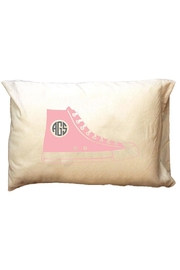 Party Cat Personalized Pink-Shoe Pillowcase - Front cropped