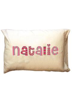 Shoptiques Product: Personalized Pink-Patterns Pillowcase