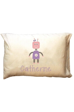 Party Cat Personalized Robot-Girl Pillowcase - Alternate List Image