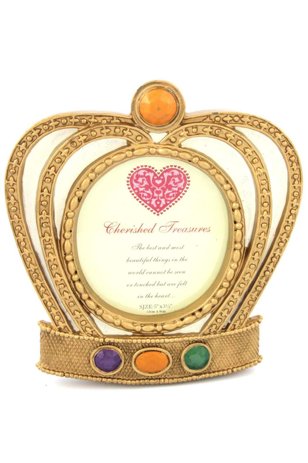 party time mardi gras crown frame front cropped image