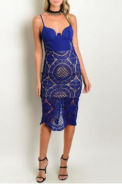 Parvenue Royal Crochet Dress - Product List Image