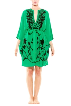 Shoptiques Product: Green Embroidered Kaftan