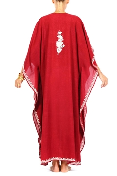 Pas Pour toi Red Embroidered Kaftan - Alternate List Image