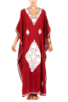 Shoptiques Product: Red Embroidered Kaftan