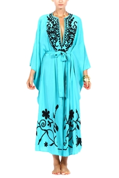 Pas Pour toi Turquoise Embroidered Kaftan - Product List Image