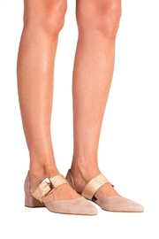 Pascucci Beige Heeled Pump - Back cropped