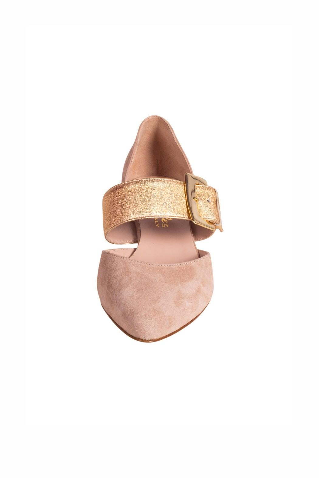 Pascucci Beige Heeled Pump - Side Cropped Image