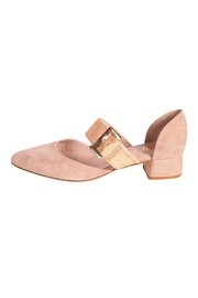 Pascucci Beige Heeled Pump - Front cropped