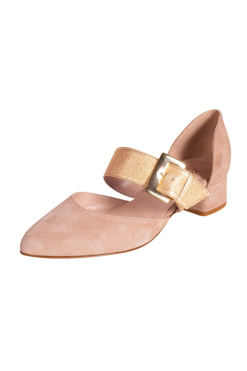 Pascucci Beige Heeled Pump - Front Full Image