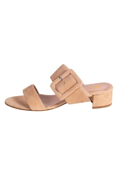Shoptiques Product: Beige Heeled Slide
