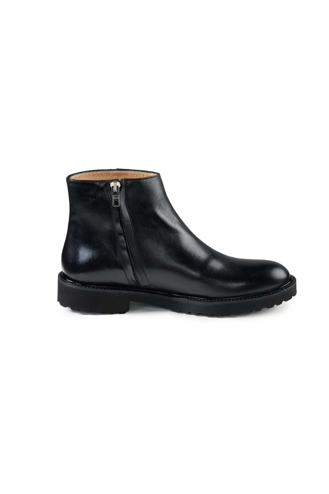 Pascucci Black Ankle Boots - Back Cropped Image