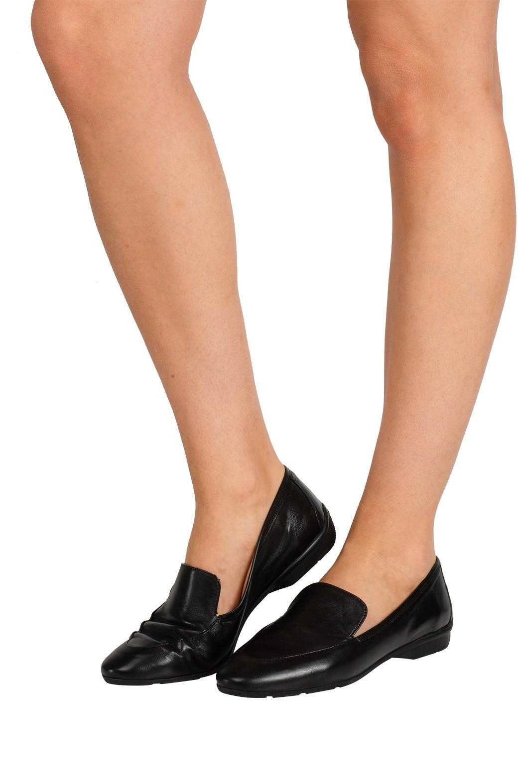 Pascucci Black Leather Loafer - Back Cropped Image