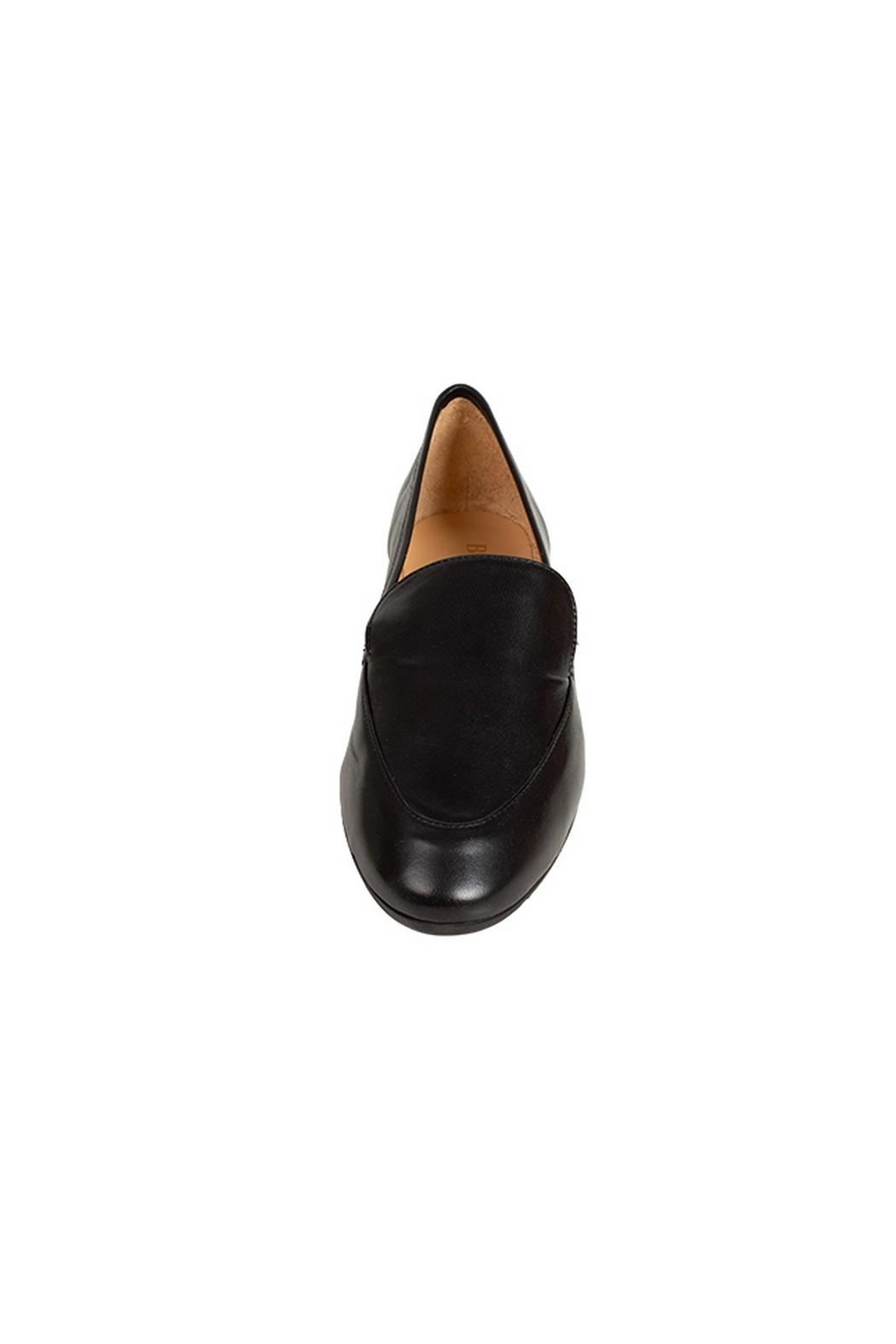 Pascucci Black Leather Loafer - Side Cropped Image