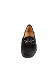 Pascucci Black Leather Loafer - Side cropped