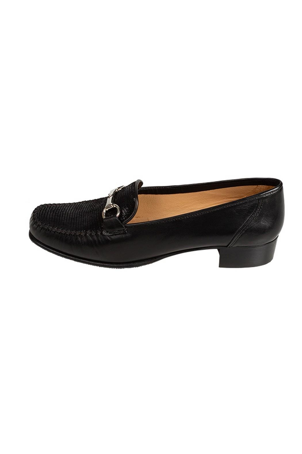 Pascucci Black Leather Loafer - Main Image