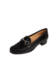 Pascucci Black Leather Loafer - Front full body