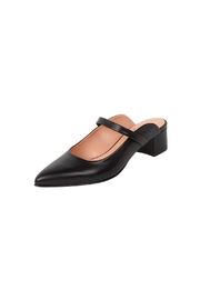 Manu Mari Black, Leather, Mules - Front full body