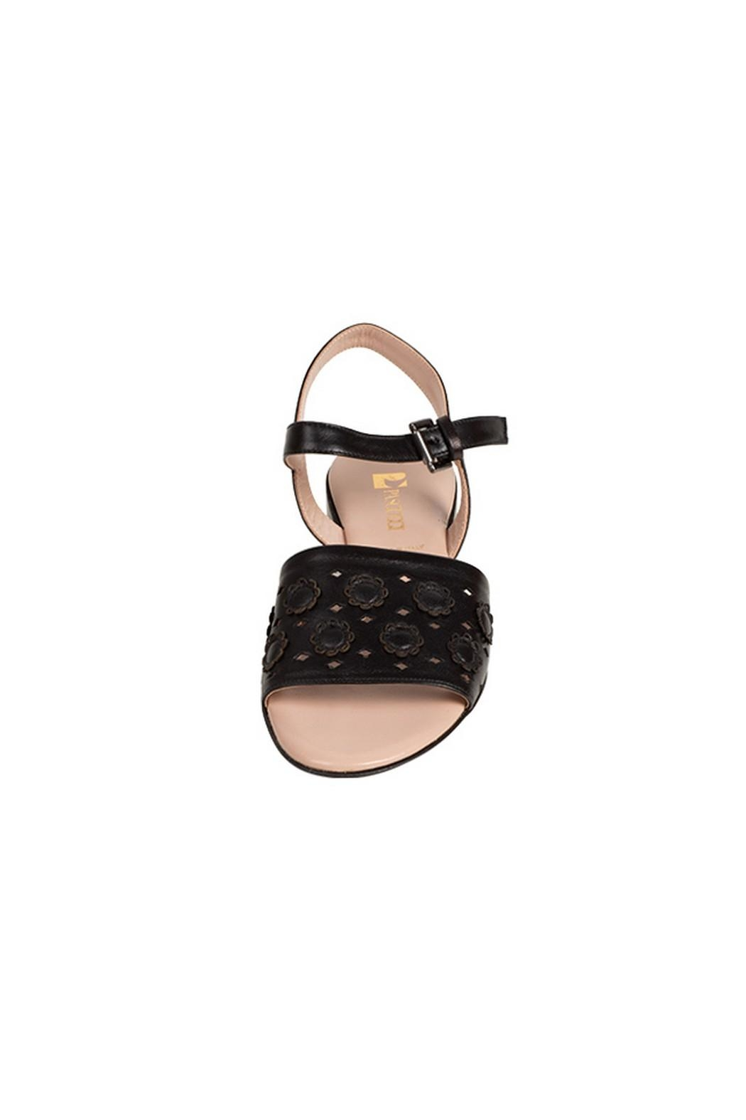 Pascucci Black Leather Sandal - Side Cropped Image