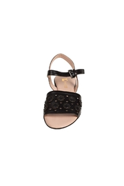 Pascucci Black Leather Sandal - Side cropped