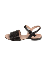 Pascucci Black Leather Sandal - Front cropped