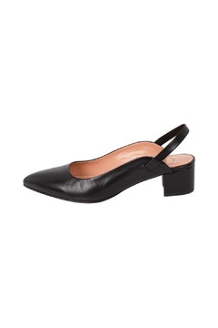 Shoptiques Product: Black, Leather, Slingbacks