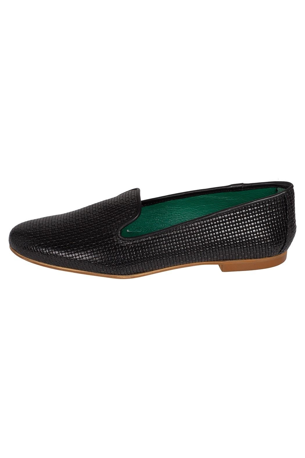 Pascucci Black Leather Smoking-Slipper - Front Cropped Image