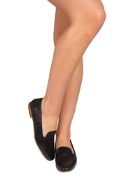 Pascucci Black Leather Smoking-Slipper - Back cropped