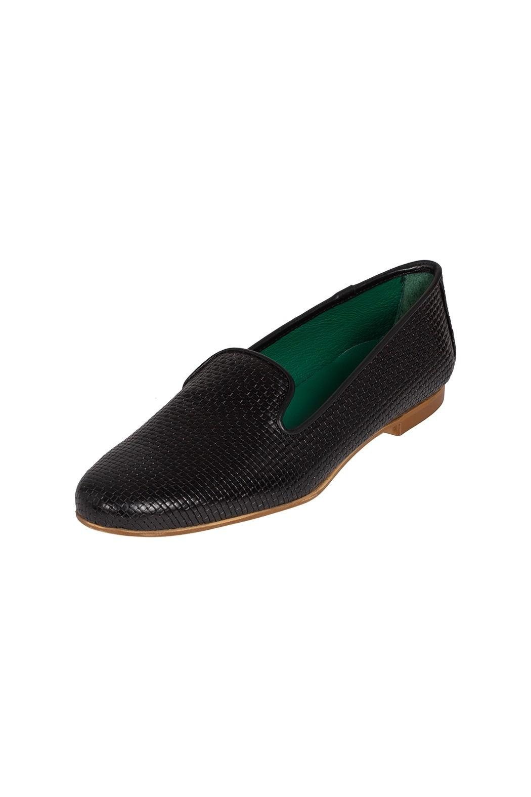 Pascucci Black Leather Smoking-Slipper - Front Full Image