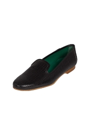 Pascucci Black Leather Smoking-Slipper - Front full body