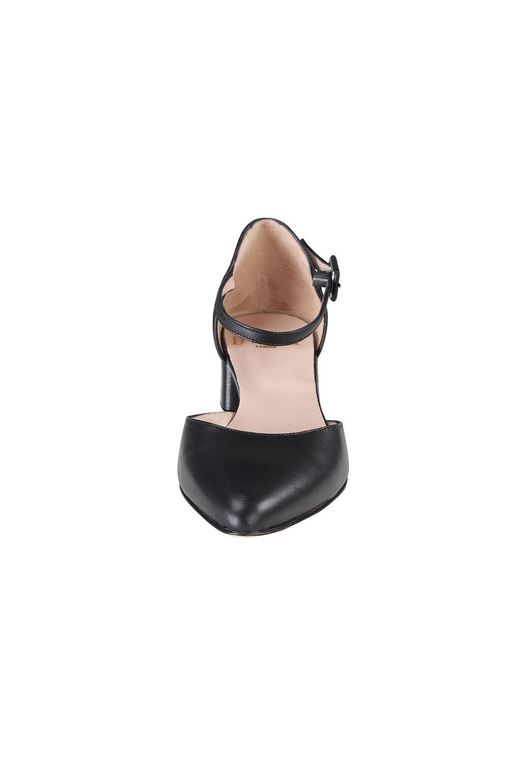 Pascucci Black Low-Heel Mary-Jane - Side Cropped Image