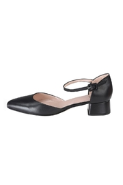 Pascucci Black Low-Heel Mary-Jane - Front cropped