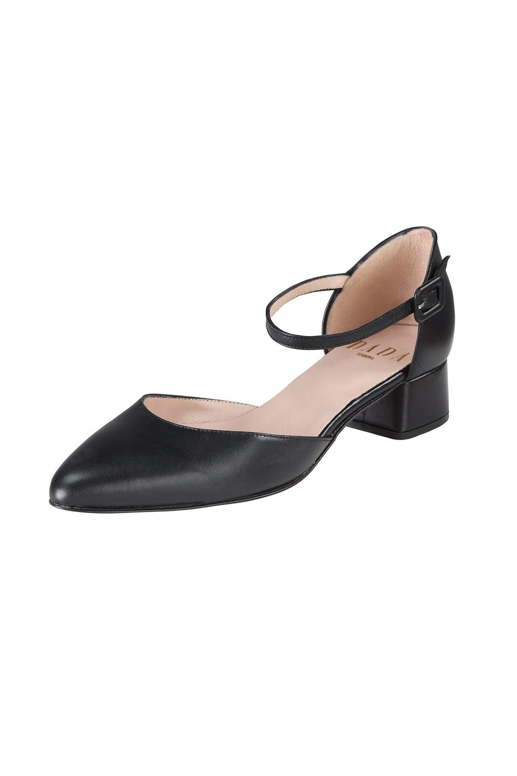 Pascucci Black Low-Heel Mary-Jane - Front Full Image